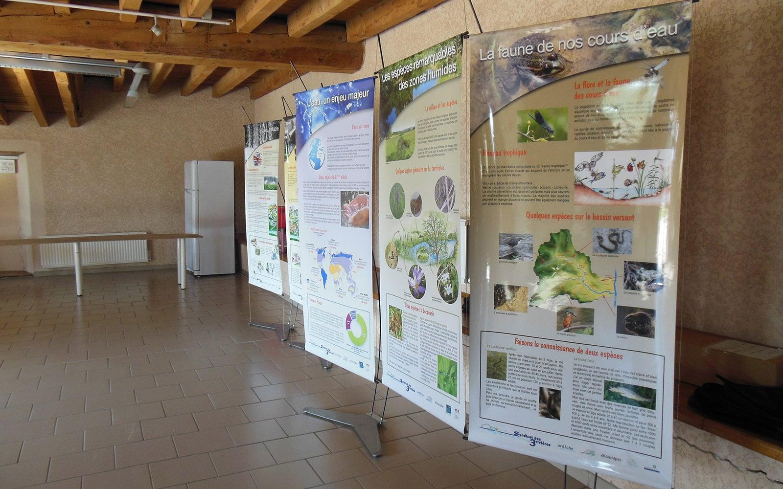 Panneaux de l′exposition