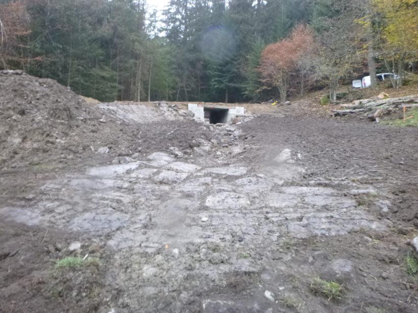 Les travaux de restauration morphologique d'un affluent du ruisseau de la Brétonnière sont terminés